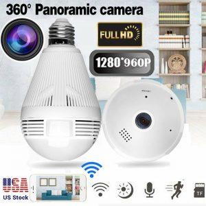 1/2/4X 960P Mild Bulb Digicam Hidden WiFi Residence Wi-fi IP Safety Full View MA
