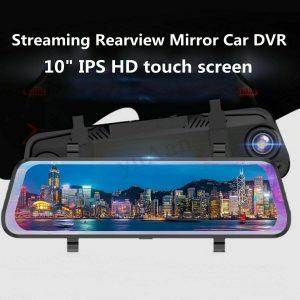 "10"" 1296P+720P Twin Lens Automobile DVR Digital camera Rearview Mirror Video Recorder MA1983"