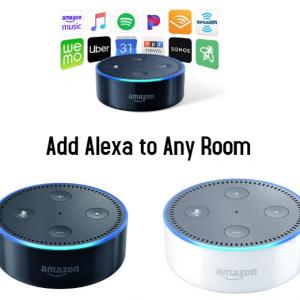 *Lot of two* Amazon Echo Dots 2nd Era w/ Alexa Voice Media Gadgets