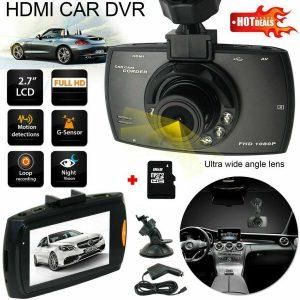 1/2PCS 1080P HD Automobile DVR Evening Imaginative and prescient Video Recorder Digital camera Sprint + 8GB SD Card US