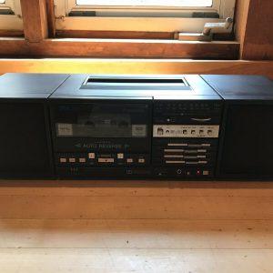 VINTAGE 1985 Panasonic RX-C20 Transportable Boombox Blaster Cassette Participant WORKS!